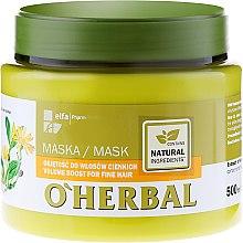 Parfumuri și produse cosmetice Mască cu efect de volum pentru părul fin cu extract de arnica - O'Herbal