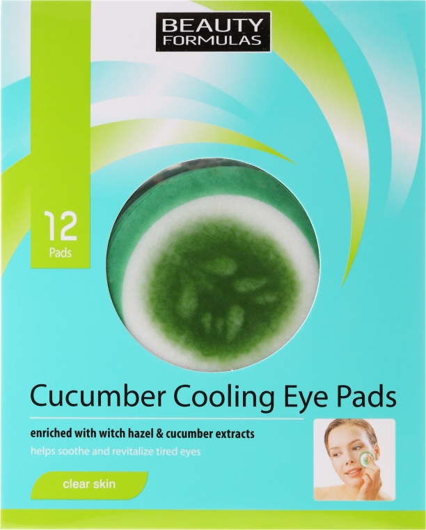 Patch-uri sub ochi - Beauty Formulas Cucumber Cooling Eye Pads