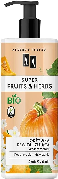 "Balsam revitalizant de păr ""Dovleac și iasomie"" - AA Super Fruits Herbs Conditioner"