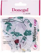 Parfumuri și produse cosmetice Cască de duș, 9298, flori verzi - Donegal Shower Cap