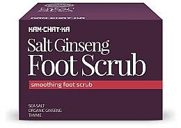 Parfumuri și produse cosmetice Scrub pentru picioare - Natura Siberica Fresh Spa Kam-Chat-Ka Salt Ginseng Foot Scrub