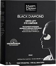 Parfumuri și produse cosmetice Patch-uri sub ochi - MartiDerm Black Diamond Ionto-Lift Eye Contour