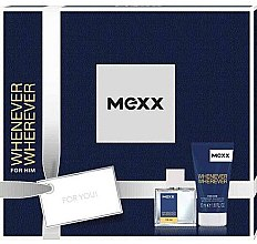Parfumuri și produse cosmetice Mexx Whenever Wherever For Him - Set (edt/30ml + sh/gel/50ml)