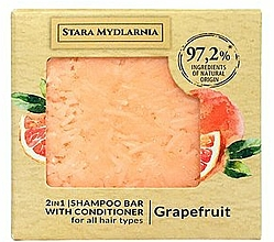 "Parfumuri și produse cosmetice Șampon-balsam solid ""Grapefruit"" - Stara Mydlarnia Grapefruit 2in1 Shampoo Bar"