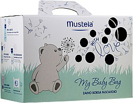 Parfumuri și produse cosmetice Set - Mustela My Baby Bag Set (water/300ml + gel/shm/200ml + f/cr/40ml + b/cr/50ml + wipes/25pcs + bag)