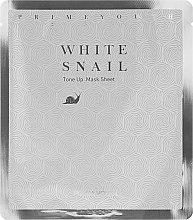 Parfumuri și produse cosmetice Mască de față - Holika Holika Prime Youth White Snail Tone-up Mask Sheet