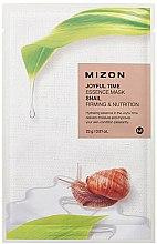 Parfumuri și produse cosmetice Mască de țesut cu mucus de melc pentru față - Mizon Joyful Time Essence Mask Snail