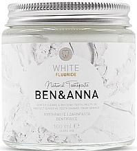 Parfumuri și produse cosmetice Pastă naturală de dinți - Ben & Anna White Fluoride Toothpaste