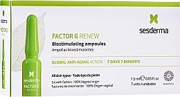 Parfumuri și produse cosmetice Fiole pentru față - SesDerma Laboratories Factor G Renew Biostimulating Ampoules Anti-Ageing Action