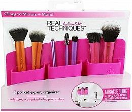 Parfumuri și produse cosmetice Organizator pentru pensule de machiaj, roz - Real Techniques 3 Pocket Expert Organizer Pink