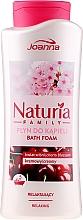 Parfumuri și produse cosmetice Spumă pentru baie - Joanna Naturia Family Bath Foam Cherry Blossom