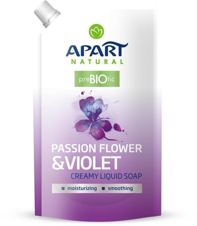 "Săpun lichid ""Floarea pasiunii și violă"" - Apart Natural Passion Flower & Violet Soap (doypack)"