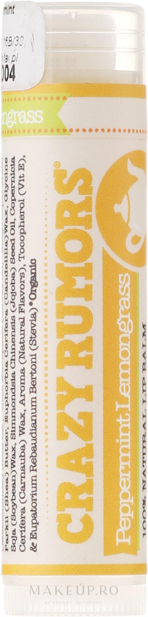 Balsam de buze - Crazy Rumors Peppermint Lemongrass Lip Balm — Imagine 4.4 ml