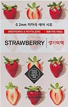 Parfumuri și produse cosmetice Mască de față ultra-subțire cu extract de căpșuni - Etude House Therapy Air Mask Strawberry