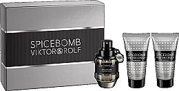 Parfumuri și produse cosmetice Viktor & Rolf Spicebomb - Set (edt/50ml + ash/balm/50ml + sh/cr/50ml)