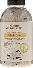 Parfumuri și produse cosmetice Sare de baie cu aromă de magnolie și vanilie - Nature de Marseille