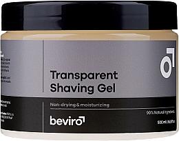 Parfumuri și produse cosmetice Gel de ras, transparent - Beviro Transparent Shaving Gel