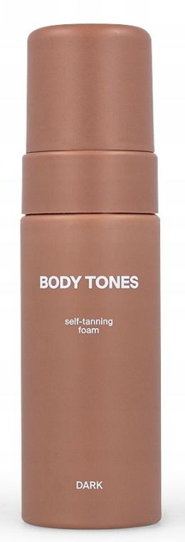 Spumă autobronzantă - Body Tones Self-Tanning Foam Dark — Imagine N2