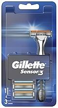 Parfumuri și produse cosmetice Aparat de ras cu 3 casete interschimbabile - Gillette Sensor 3