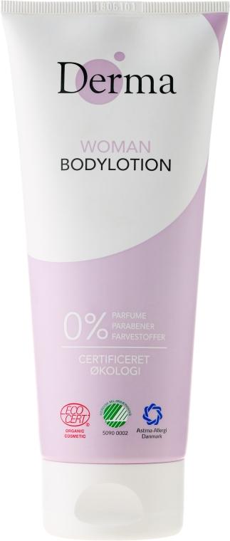 Loțiune de corp cu ulei de caise și aloe vera - Derma Eco Woman Body Lotion — Imagine N1