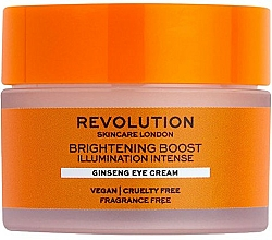 Parfumuri și produse cosmetice Cremă iluminantoare cu ginseng pentru ochi - Revolution Skincare Brightening Boost Ginseng Eye Cream