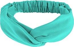 """Parfumuri și produse cosmetice Bentiță din tricotaj, verde mentă """"Knit Twist"""" - MakeUp Hair Accessories"""