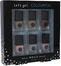 Parfumuri și produse cosmetice Set - Cosmetic 2K Let'S Get Colourful! Nudes Nail Polish (nail/laquer/6x5ml)