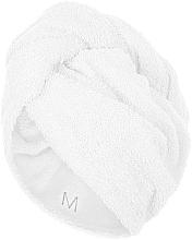 Parfumuri și produse cosmetice Prosop turban pentru uscarea părului, alb - MakeUp