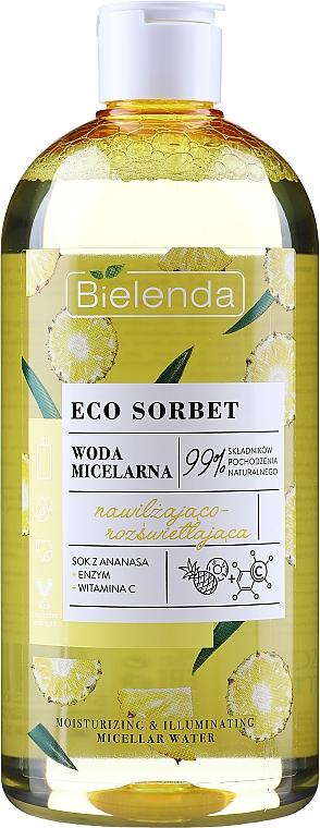 """Apă micelară """"Hidratantă și Strălucitoare"""" - Bielenda Eco Sorbet Moisturizing&Illuminating Micellar Water"""