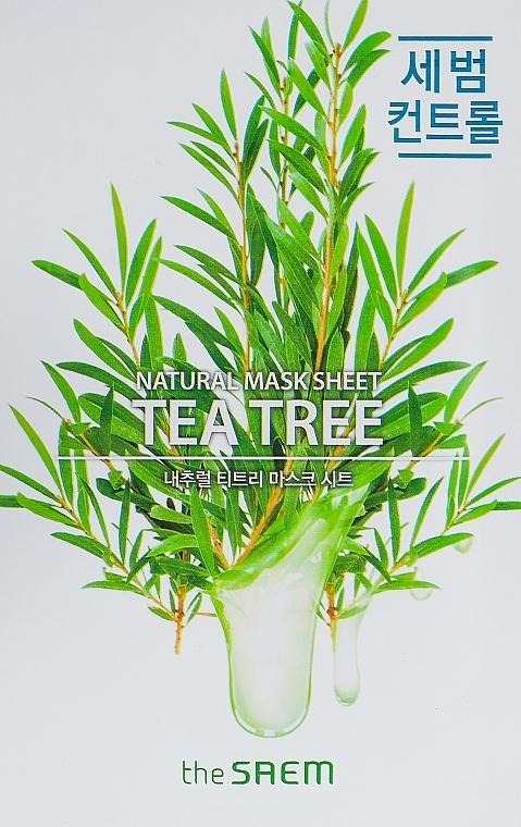 Mască de față - The Saem Natural Tea Tree Mask Sheet — Imagine N1