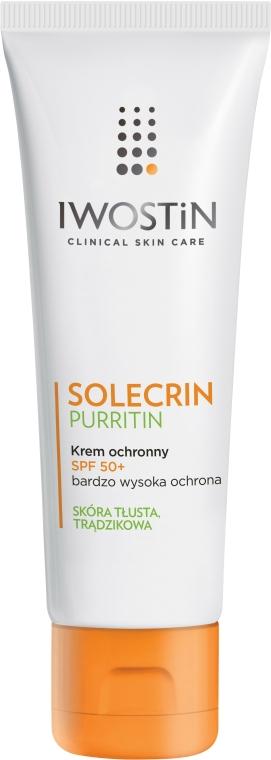 Cremă de protecție solară pentru pielea grasă - Iwostin Solecrin Purritin Protective Cream SPF 50+