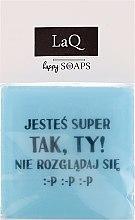 """Parfumuri și produse cosmetice Săpun natural """"Și băieții au sentimente..."""" - LaQ Happy Soaps Short Message Soap"""