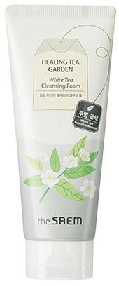 Gel de curățare pentru față - The Saem Healing Tea Garden White Tea Cleansing Foam — Imagine N1