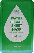 Parfumuri și produse cosmetice Mască de țesut pentru calmarea pielii - Laneige Water Pocket Sheet Mask Skin Relief