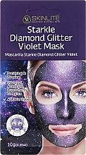 Parfumuri și produse cosmetice Mască de față - Skinlite Starkle Diamond Glitter Violet Mask