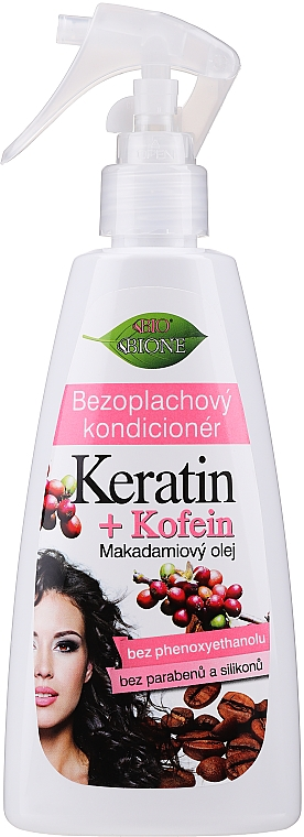 Balsam de păr - Bione Cosmetics Keratin + Caffeine Leave-in Conditioner Spray