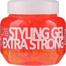 Gel de păr, cu fixare ultra-puternică - Kallos Cosmetics Extra Strong Hold Styling Gel — Imagine N1