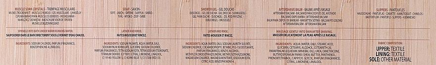 Set - Baylis & Harding The Fuzzy Duck Men's Ginger & Lime Slipper Set (bath/crystal/100g + soap/100g + sh/gel/50ml + ash/balm/50ml + slippers/1pcs) — Imagine N8