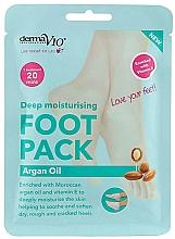 Parfumuri și produse cosmetice Șosete emoliente pentru picioare - Derma V10 Foot Mask Argan Oil