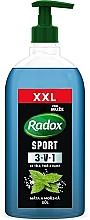 """Parfumuri și produse cosmetice Gel de duș 3 în 1 """"Mentă și sare de mare"""" - Radox Men XXL Sport 3in1 Shower Gel"""