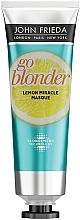 Parfumuri și produse cosmetice Mască cu efect de întărire pentru păr fragil - John Frieda Sheer Blonde Go Blonder Lemon Miracle