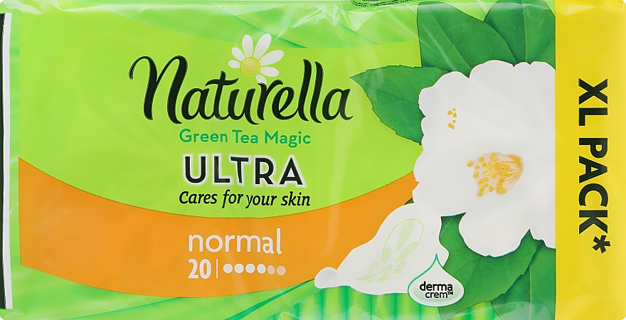 Absorbante, 20 bucăți - Naturella Green Tea Magic