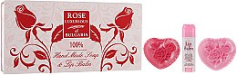 Parfumuri și produse cosmetice Set - BioFresh Rose Luxurious of Bulgaria (l/balm/5ml + soap/2x70g)