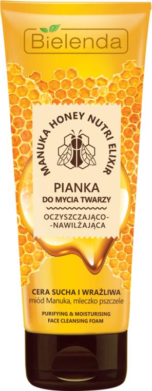 Spumă de curățare pentru față - Bielenda Manuka Honey Nutri Elixir Facial Foam