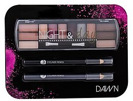 Parfumuri și produse cosmetice Set - Cosmetic 2K Night & Day Dawn (eye/sh/8,16g + eye/pen/2x0,6g)
