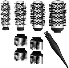 Parfumuri și produse cosmetice Set - Lussoni Waves To Go (brush/4ps + hairclip/4ps)