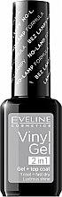 Parfumuri și produse cosmetice Oja semipermanentă - Eveline Cosmetics Vinyl Gel 2In1 Gel+Top Coat