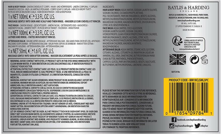 Set - Baylis & Harding Citrus Lime & Mint (b/wash/100ml + a/s/balm/50ml + wash/100ml) — Imagine N2