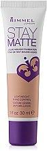 Parfumuri și produse cosmetice Fond de ten, matifiant - Rimmel Stay Matte Liquid Mousse Foundation
