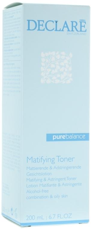 Loțiune pentru față - Declare Pure Balance Matifying & Astringent Toner — Imagine N1